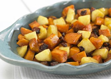 Maple Ginger Sweet Potatoes and Apples