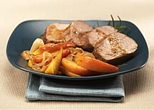 Roasted Pork with Mustard-Apple Relish